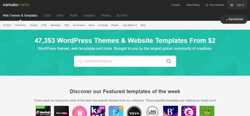 Website Templates from ThemeForest WordPress Themes