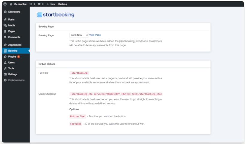 WordPress Booking Plugin -Start Booking