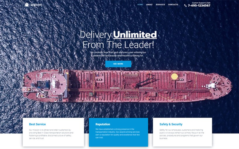 Logicon - Transportation Services Responsive Elementor WordPress Theme