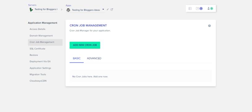 Cloudways Review- Cron Job Management