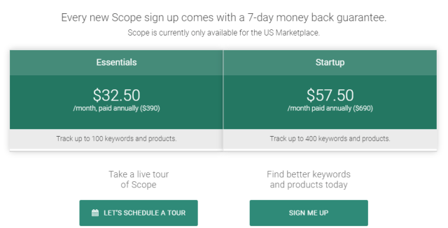 Scope Review- Pricing Plans