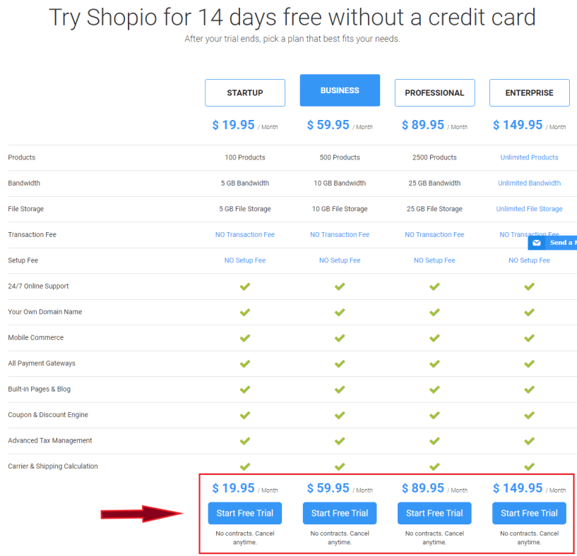 Shopio Pricing