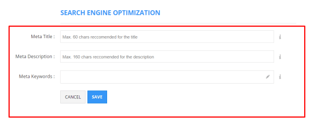Shopio Review- SEO (Search Engine Optimization) Feature