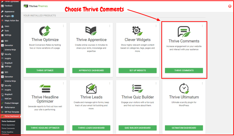 Thrive Comments Review - Thrive Dashboard