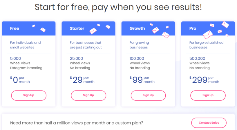 Listagram Review- Pricing Plans
