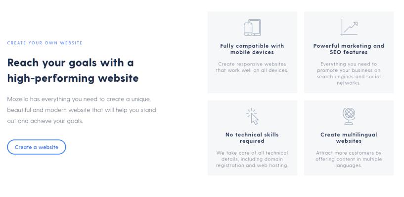 Mozello Discount Code - Mozello Features