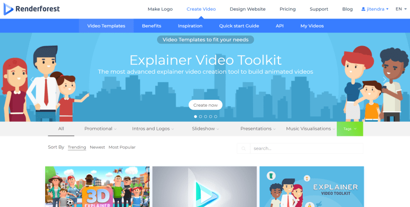 Online video and animation maker in your browser