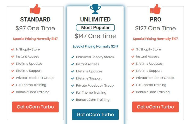 ecom turbo theme price