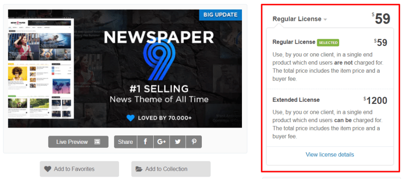 Newspaper Theme Review- Pricing