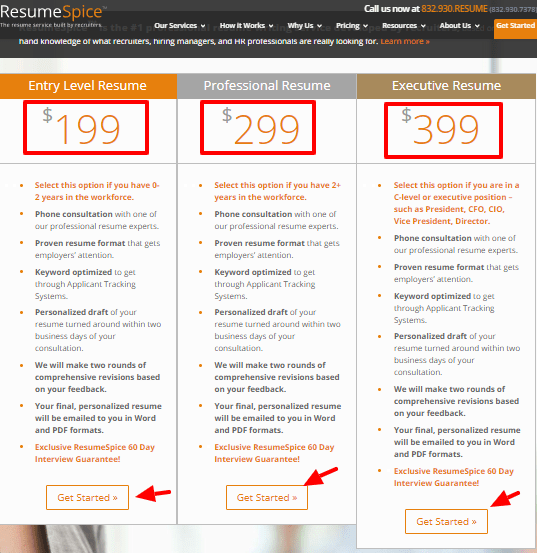 ResumeSpice Coupon code - Pricing