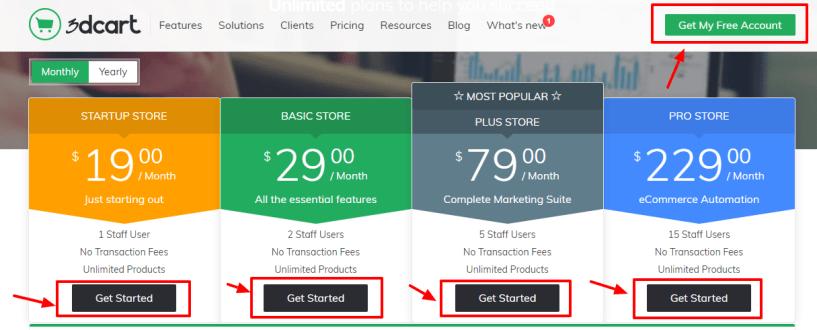 Best Ecommerce Platform -3dcart review pricing