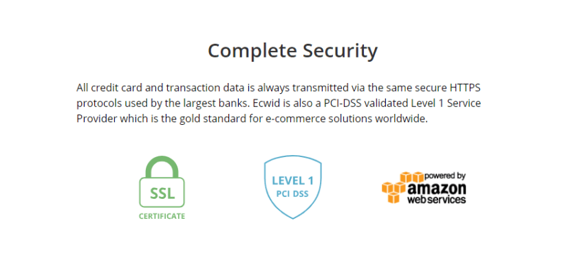 Best Ecommerce Platform -Ecwid review security