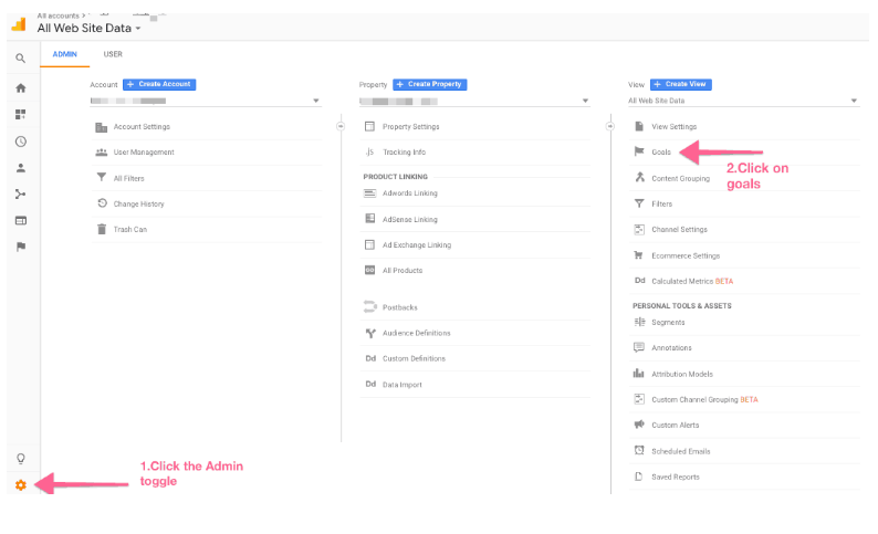 Top Google Analytics Tips and Tricks- Add Goals