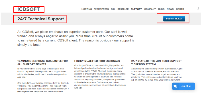 ICDSoft Review- ICDSoft Technical Support