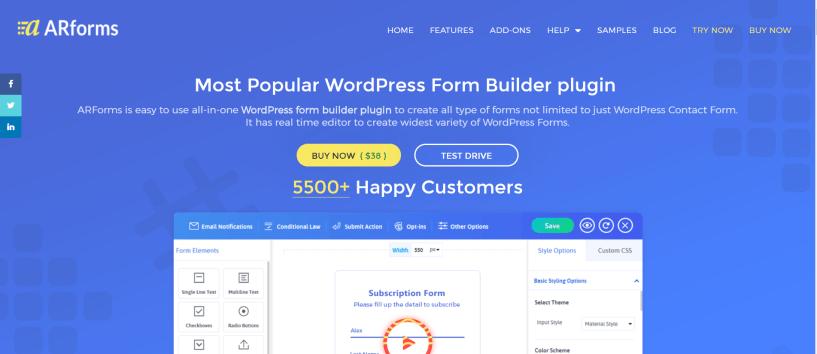 ARForms Review- Best WordPress Form Builder