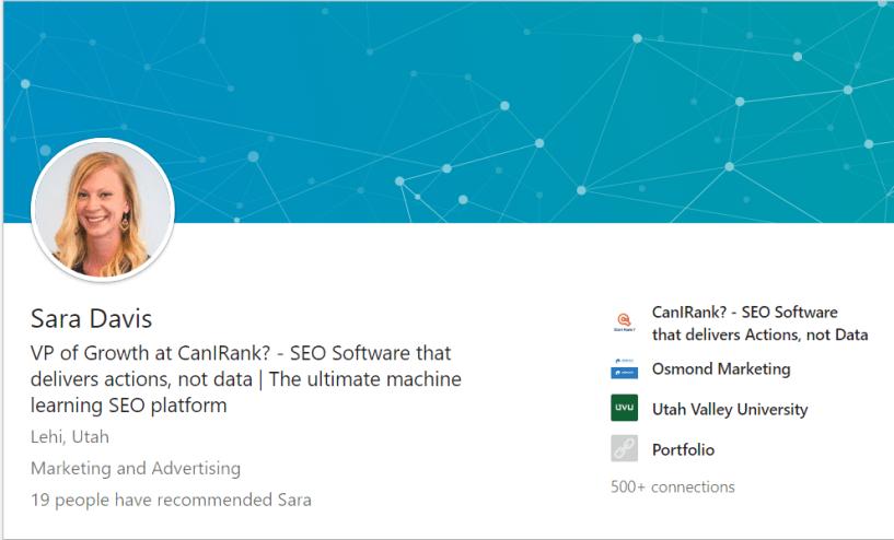 CanIRank Review- Sara Davis | CanIRank LinkedIn