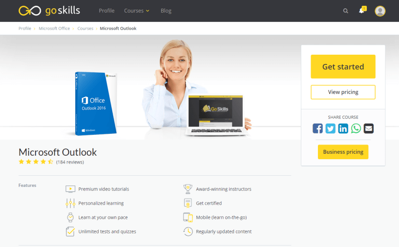 GoSkills Review With Discount Coupon- Microsoft Outlook