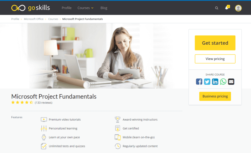 GoSkills Review With Discount Coupon- Microsoft Project Fundamentals Course