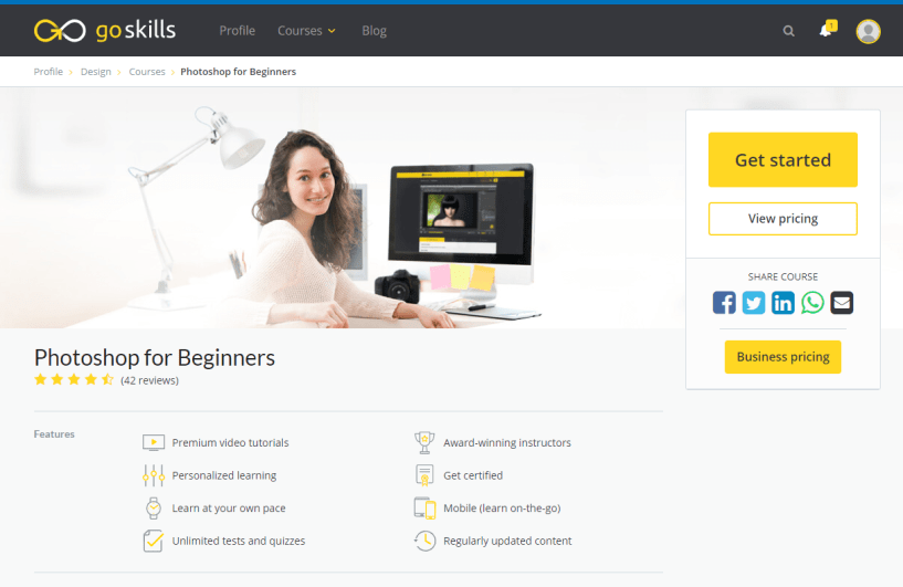 GoSkills Review With Discount Coupon- Photoshop for Beginners