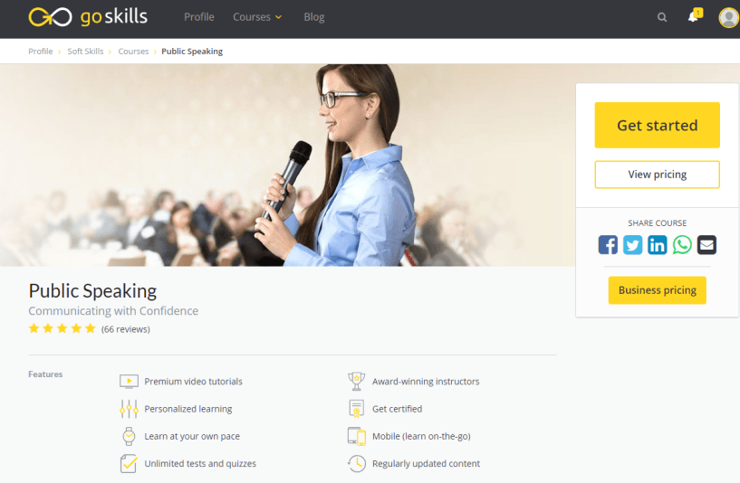 GoSkills Review With Discount Coupon- Public Speaking Online Training Course