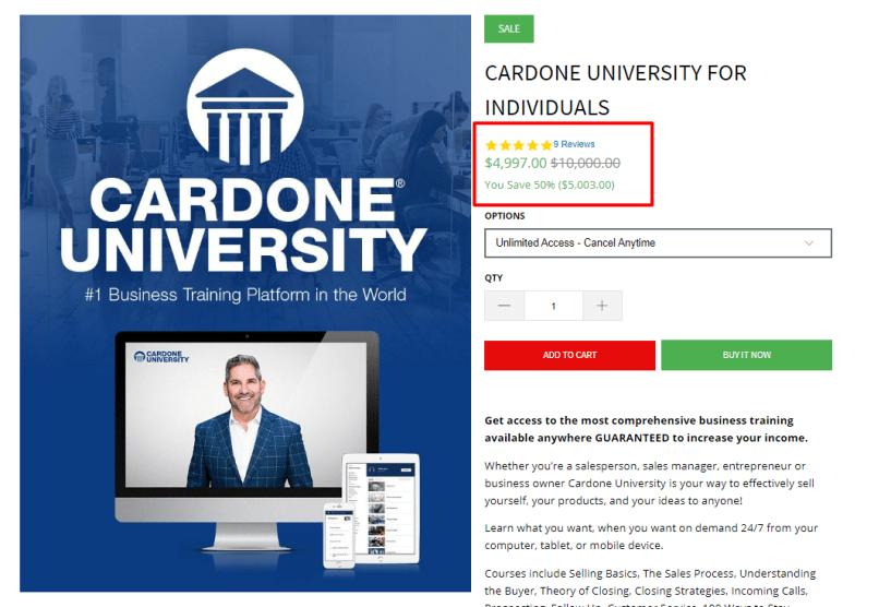 Grant Cardone University Review- The University Review