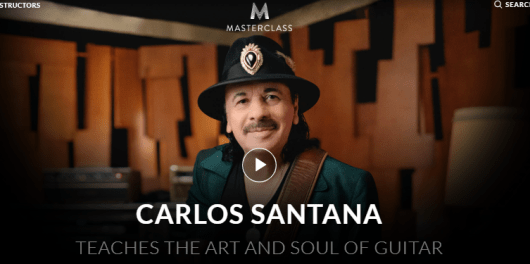 Carlos Santana MasterClass Review- introduction