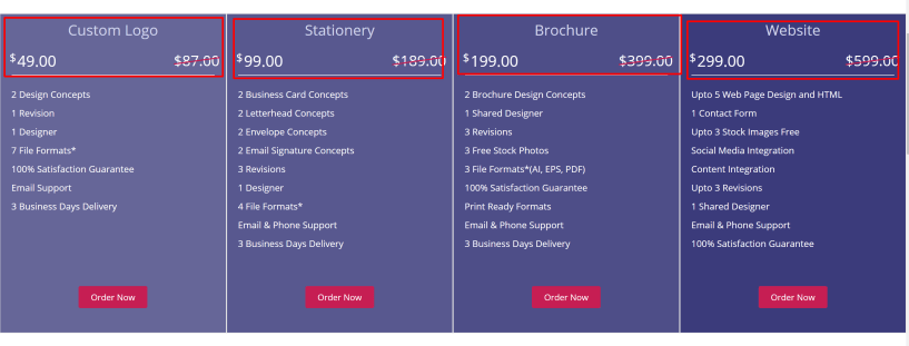 Design mantic discount coupons