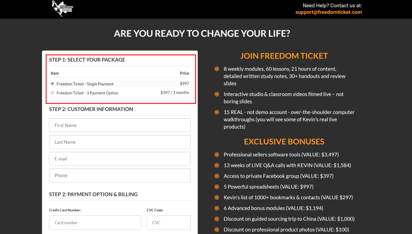 Freedom ticket amazon pricing