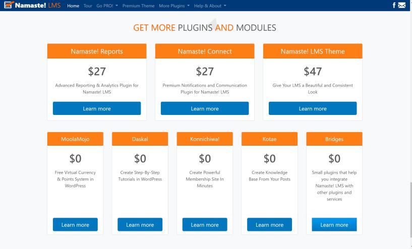 Namaste lms pricing