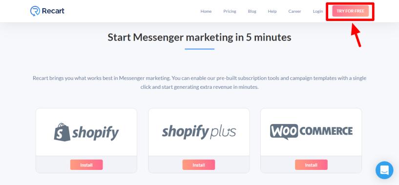 Recart Review - start marketing