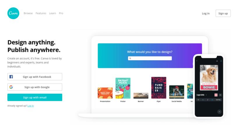 canva per startup