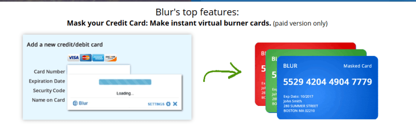 Blur Review- Features Masked Cards