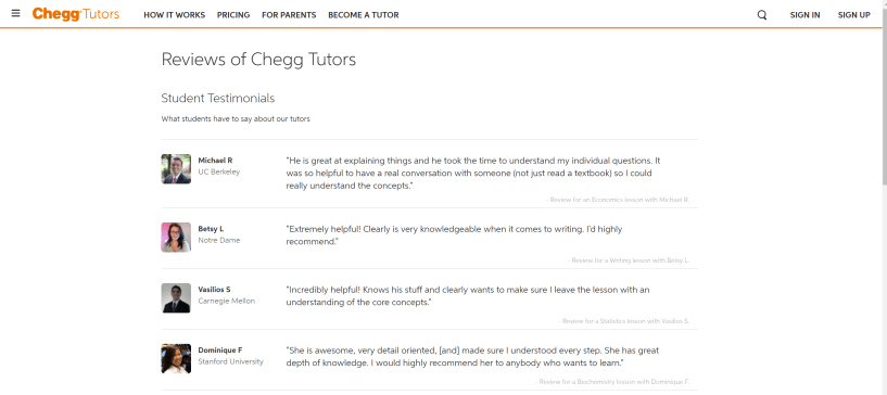 Chegg customer reviews