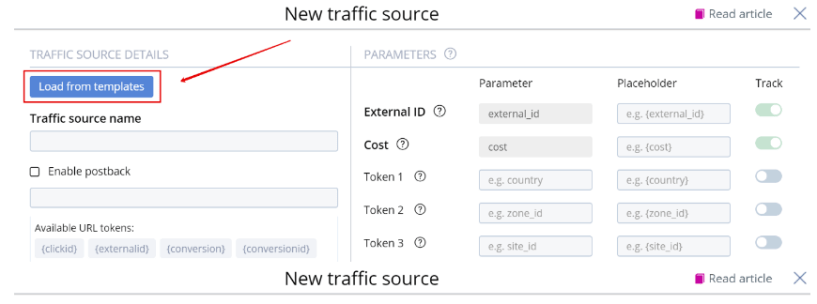 Cloak Facebook Ads With Peerclick- Add Templates