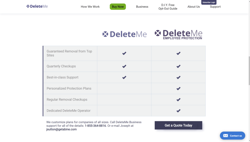 DeleteMe for business
