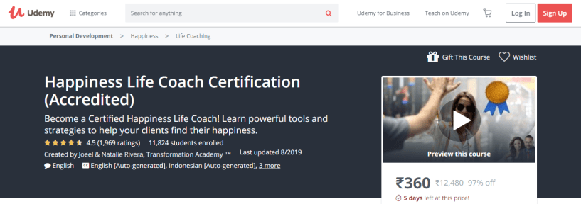 7 Best Life Coaching Courses & Certification- Happiness Life Coach Certification