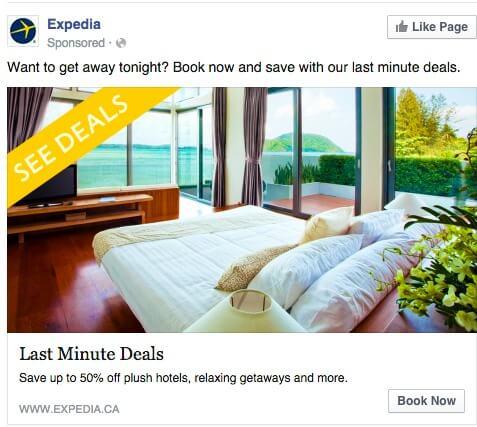 Facebook Ad - expedia ads
