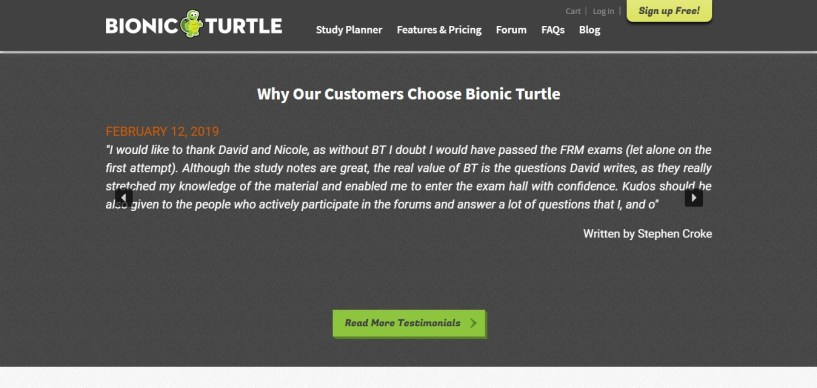 review for Bionic turtle