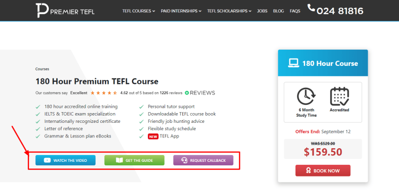 Accredited 180 Hour Premium TEFL Course - Premier TEFL Review
