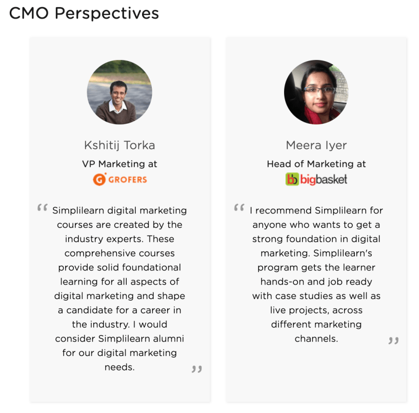 CMO Reviews- For the Course