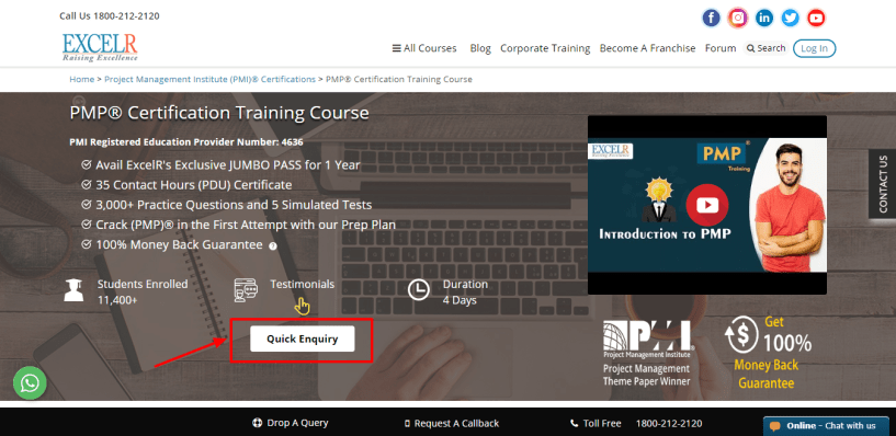 Excelr Review - PMP