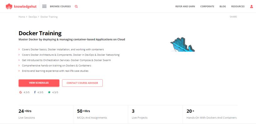 KnowledgeHut Review - Docker Training Docker Certification Course