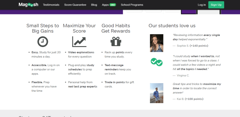 Special Features  Magoosh Online Test Prep