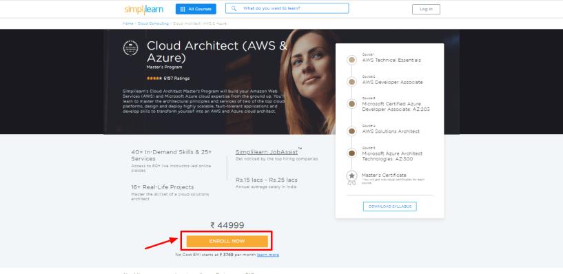 Simplilearn Review - Cloud Architect AWS Azure Masters Program Training Simplilearn