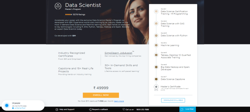 Simplilearn Review - Data Scientist