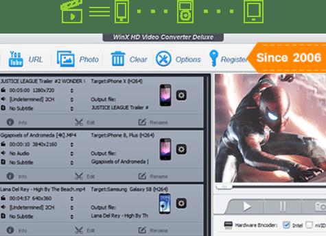 WinX video dönüştürücü incelemesi