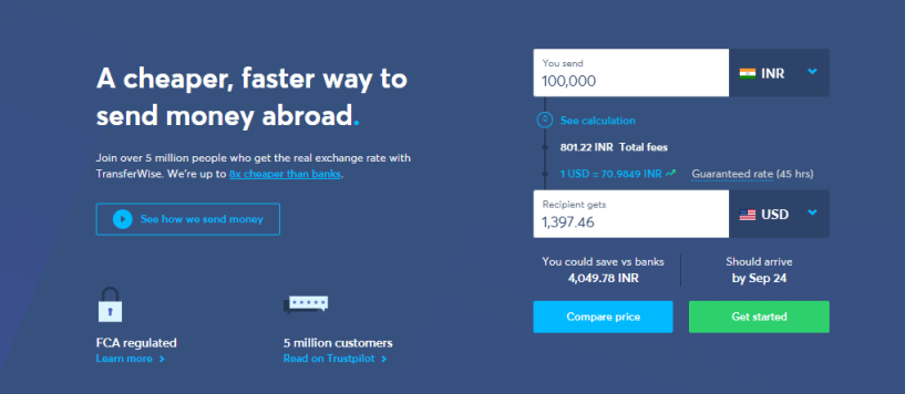 transferwise vs WesternUnion - transfer money