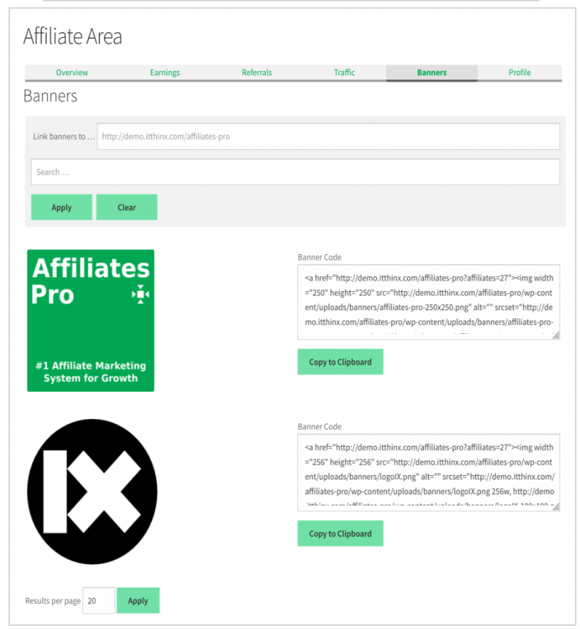 AffiliateWP vs Affiliate Pro Comparison- Banners