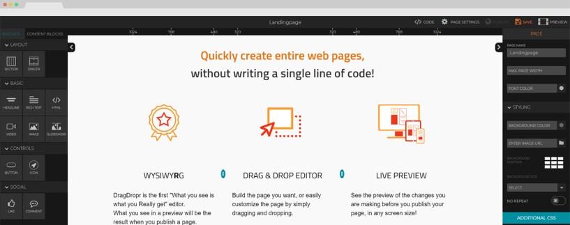 DragDrop Page builder