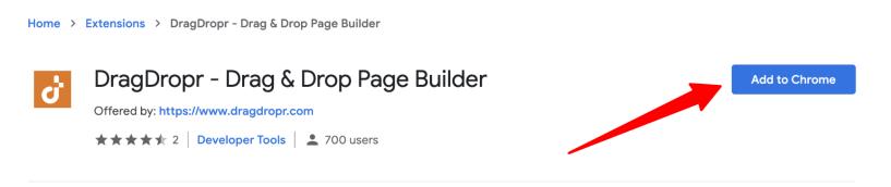 DragDropr Chrome Extension